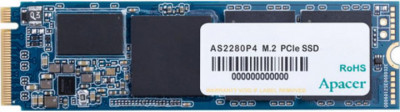 Твердотільний диск SSD M. 2 240GB Apacer AS2280P4 PCIe 3.0 TLC, Sequential Read/Write 1600/1000 MB/sec (AP240GAS2280P4-1)