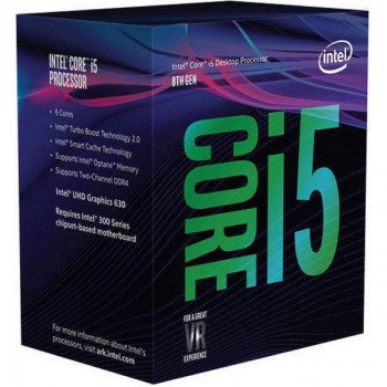 Процесор CPU Core i5-8400 6 ядер, 2.80 GHz, 8 GT/s DMI, Intel UHD 630, L2: 6x256KB, L3: 9MB, 14nm, 65W, Coffee Lake (BX80684I58400) Box