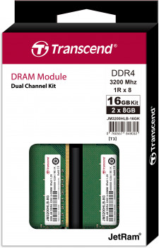 Оперативна пам'ять Transcend DDR4-3200 16384 MB PC4-25600 (Kit of 2x8192) (JM3200HLB-16GK)