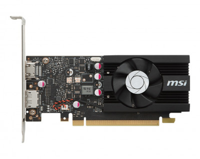 Видеокарта GF GT 1030 2GB GDDR5 Low Profile OCV1 MSI (GeForce GT 1030 2G LP OC) (WY36dnd-253700)