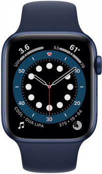 Смарт-годинник Apple Watch Series 6 GPS 44mm Blue Aluminium Case with Deep Navy Sport Band (M00J3UL/A)