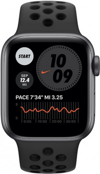 Смарт-годинник Apple Watch Series 6 Nike GPS 40mm Space Gray Aluminum Case with Anthracite/Black Nike Sport Band (M00X3UL/A)