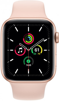 Смарт-годинник Apple Watch SE GPS 44mm Gold Aluminium Case with Pink Sand Band (MYDR2UL/A)