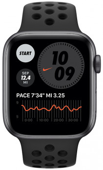 Смарт-годинник Apple Watch SE Nike GPS 44mm Space Gray Aluminum Case with Anthracite/Black Nike Sport Band (MYYK2UL/A)