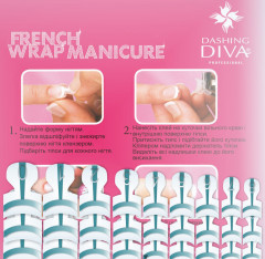 Набор типс для френча Dashing Diva French Wrap Plus Thin Turquoise Color Trial Size 28 шт (0961000000240)