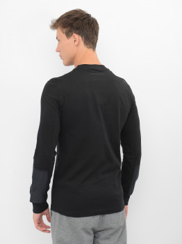 Лонгслів Calvin Klein Jeans Mixed Media Ls Tee J30J315605-BAE0 CK Black