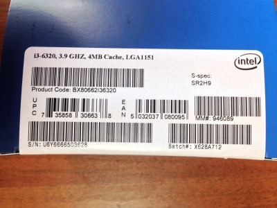 Процесор Intel Core i3-6320 3.90 GHz s1151 BOX (BX80662I36320)