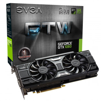 EVGA PCI-Ex GeForce GTX 1060 SSC Gaming ACX 3.0 3GB GDDR5 (192bit) (1620 /8008) (DVI, HDMI, 3 x DisplayPort) (03G-P4-6168-KR)