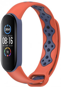 Xiaomi Mi Band 5 MiJobs Sport Orange/Navy Blue (MJ5-SP011ONB)