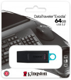 Kingston DataTraveler Exodia 64GB USB 3.2 Gen 1 Black/Teal (DTX/64GB) - изображение 6