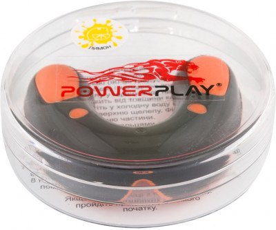 Капа боксерська PowerPlay 3315 SR Lemon Black-Orange (PP_3315_SR_BLACK/OR/LEMON)