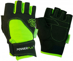 Перчатки для фитнеса PowerPlay 1728 XS Black/Green (PP_1728_XS_Black/Green)