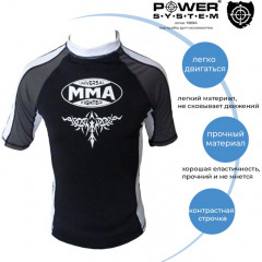 Рашгард с коротким рукавом Power System Scorpio MMA-003 XL White-Black (MMA-003_XL_White-Black)