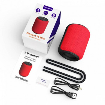 Портативна Bluetooth колонка Tronsmart Element T6 Mini Red