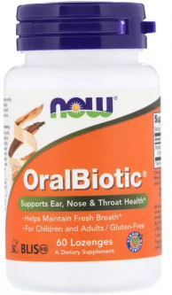 Пробиотики Now Foods OralBiotic 60 таблеток (733739029218)