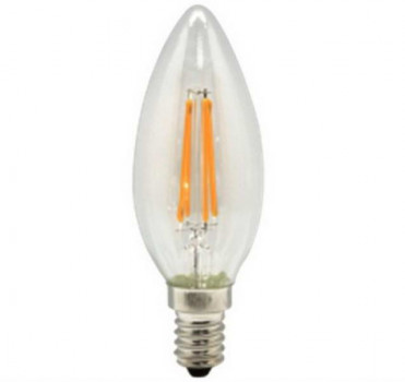 Лампа Works LED Filament C37-CanF-LB0440-E14, C37 4Вт Е14 4000К 450LM 4pcs