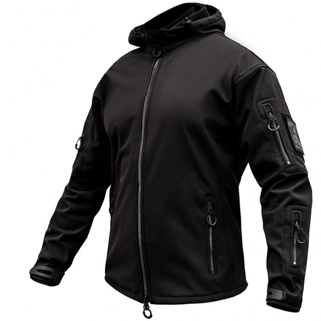 Куртка SoftShell URBAN SCOUT BLACK. XL - изображение 1