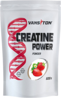 Креатин Vansiton моногидрат Creatine Power 500 г Strawberry (4820106591785)