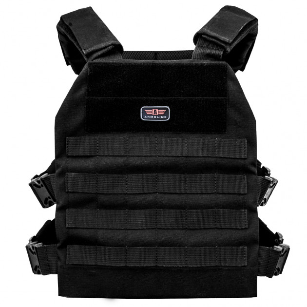 Плитоноска Armoline Plate Carrier BLACK - зображення 1