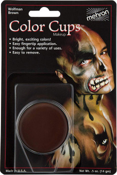 Кремовий грим Mehron Color Cups Wolfman Brown Коричневий 12 г (CCC-WBR) (764294502434)