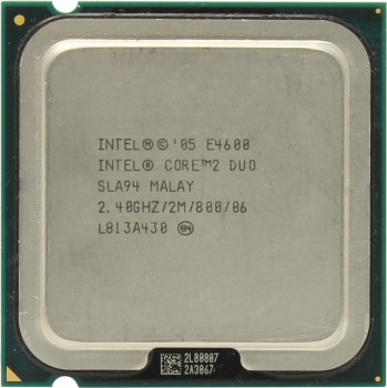 Процессор Intel Core 2 Duo E4600 2.40GHz/2M/800 (SLA94) s775, tray