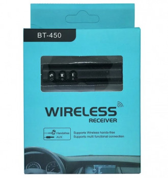 Автомобільний Bluetooth трансмітер Wireless receiver Etercycle bt 450 чорний(0000203)