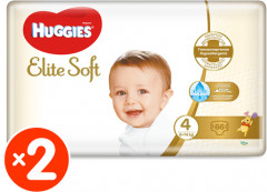 Подгузники Huggies Elite Soft 4 8-14 кг M-Pack 132 шт (5029054565636_5029054566664)