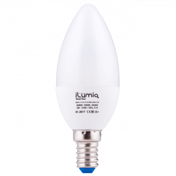LED лампа Ilumia 5W Е27 C37 3000-6000К всі кольори 500Lm (064)