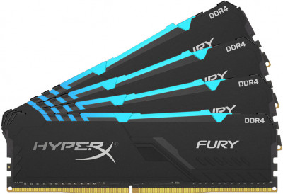 Оперативна пам'ять HyperX DDR4-2400 65536 MB PC4-19200 (Kit of 4x16384) Fury RGB (HX424C15FB4AK4/64)
