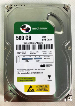 "Накопитель HDD 3.5"" SATA 500GB Mediamax 5900rpm 8MB (WL500GSA859B) Refurbished"
