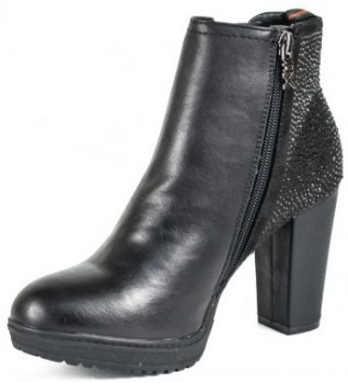 Ботильйони XTI PU Combined Ladies Ankle Boots 48306 Чорні