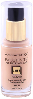 Тональний крем Max Factor Facefinity All day flawless 3in1 Foundation №30 Porcelain 30 мл (5410076971237/3614225851544)