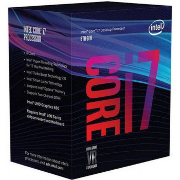 Процесор CPU Core i7-8700 6 cores 3,20Ghz-4,60Ghz/12Mb/s1151/14nm/65W (BX80684I78700) s1151 BOX