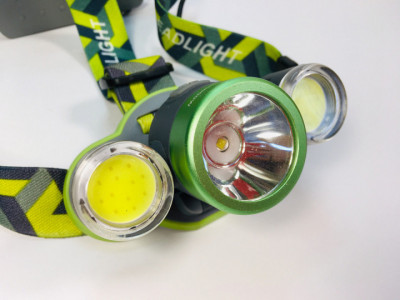 Ліхтар налобний Head Lamp Bailong 2133-T6+2COB ЗУ micro USB