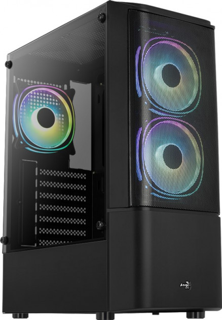Корпус Aerocool Quantum Mesh Black Mid Tower FRGB side panel (QuantumMesh-G-BK-v2) - зображення 1