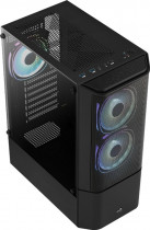 Корпус Aerocool Quantum Mesh Black Mid Tower FRGB side panel (QuantumMesh-G-BK-v2) - зображення 3