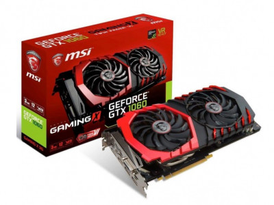 Видеокарта Msi Geforce Pci-Ex Gtx 1060 Gaming X 3Gb 192Bit Gddr5 (1569/8008) (Dvi, Hdmi, 3 X Displayport) (Gtx 1060 Gaming X 3G)