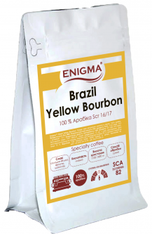 Кофе в зернах Enigma Brazil Yellow Bourbon 250 г (4000000000056)