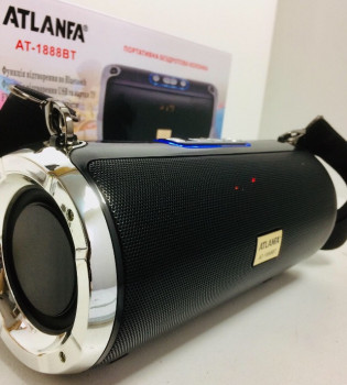Колонка Bluetooth Atlanfa AT-1888BT Black (10004)