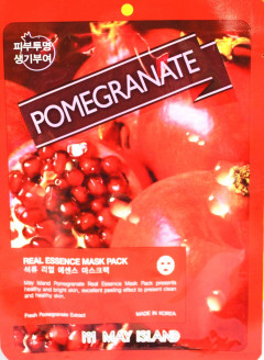 Омолаживающая маска для лица с гранатом May Island Real Essence Pomegranate Mask Pack 25 мл (8809515400259)