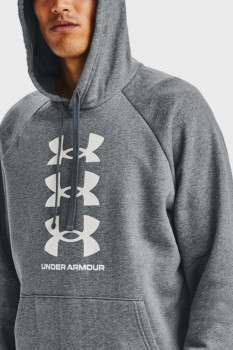 Чоловіче сіре худі UA Rival Flc Multilogo HD Under Armour 1357094-012