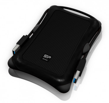Жорсткий диск Silicon Power Armor A30 2 TB SP020TBPHDA30S3A 2.5 USB 3.2 External Black