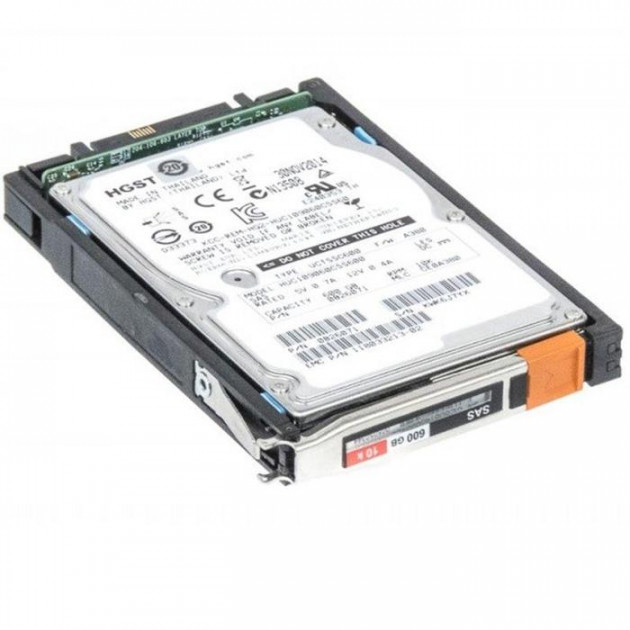 HDD EMC EMC VNX 600GB 10K 6G 2.5 INCH SAS HDD (0B26071) Refurbished - зображення 1