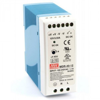 Блок питания Mean well DIN Rail Power Supplies - 12VDC 40W (MDR-40-12) Refurbished