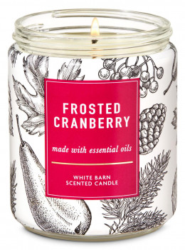 Свеча ароматизированная Bath and Body Works Frosted Cranberry Scented Candle 198 г
