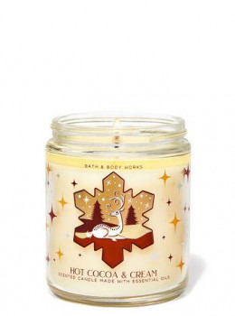 Свічка ароматизована Bath and Body Works Hot Cocoa and Cream Scented Candle 198 г