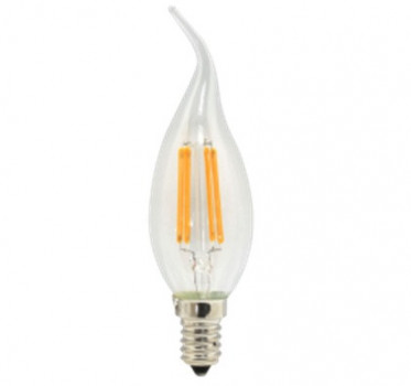 Лампа Works LED Filament C37-CanFT-LB0440-E14, C37T 4Вт Е14 3000K 450LM 4pcs
