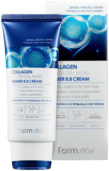 Увлажняющий ББ крем Farmstay Collagen Water Full Moist Primer Bb Cream SPF50+ PA+++ с коллагеном 50 г (8802221003639)