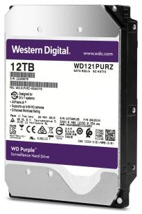 Жорсткий диск Western Digital SATA 12TB 6GB/S 256MB PURPLE WD121PURZ WDC WD - зображення 1