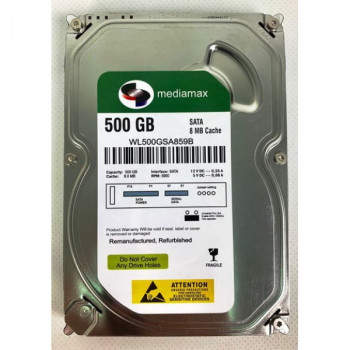 "HDD 3.5"" SATA 500GB Mediamax 5900rpm 8MB (WL500GSA859B) Refurbished"